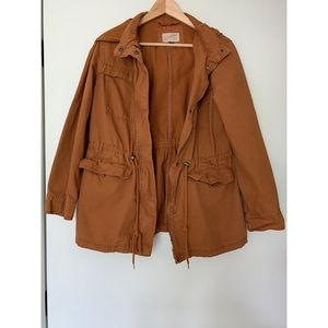 Burnt orange cargo jacket